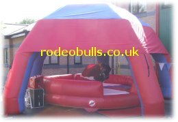 Rodeo bull hire with free inflatable marquee.