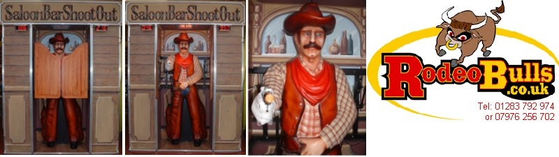 Quick Draw Saloon Bar Shootout for hire from rodeobulls.co.uk.